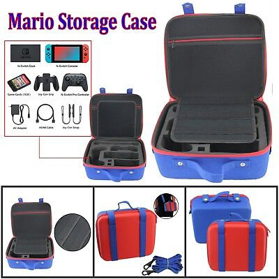 Mario Shockproof Storage Case Carry Bag Pouch For Nintendo Switch & Accessories