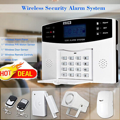 108 District GSM Anti-Theft Detector Warning Home Security Alarm System TFT BA