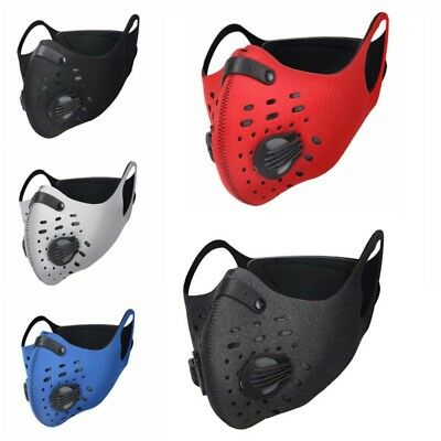 Unisex Half Face Mask Anti Dust Filter Bicycle Motor Riding Motorcycle Cycling