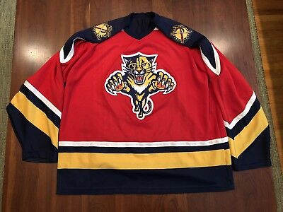 Vintage Florida Panthers Embroidered Jersey Size XL CCM 90 s Stitched  Hockey NHL 4410c482a