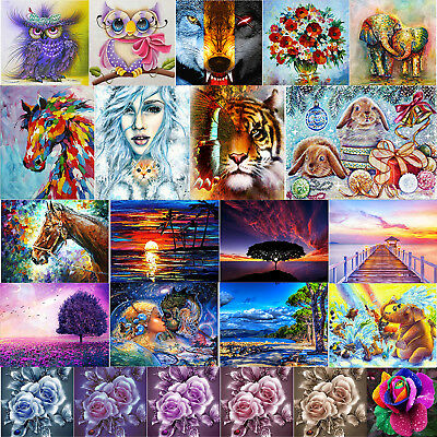 AU Full Drill 5D DIY Diamond Painting Embroidery Xmas Wall Decor + Drawing Tools