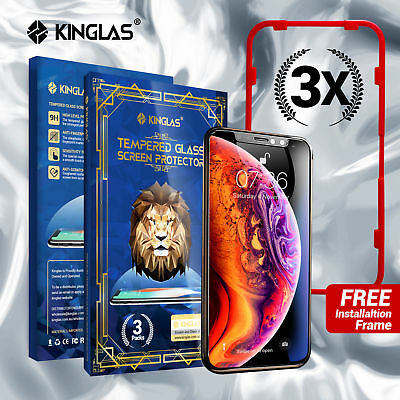 3 X Kinglas Tempered Glass Screen Protector Film For Apple iPhone X XR XS MAX
