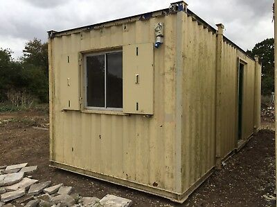 Site Office Cabin Portable Steel Building 24ft x 9ft Anti Vandal
