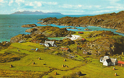 Islands of Eigg and Rhum Ardtoe Ardnamurchan Scotland Printed Unposted Postcard