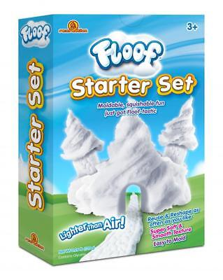 Floof! Starter Set Box Fluffy White Snow Modelling Clay With Scraper 120g FL002