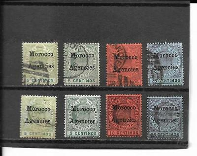 Great Britain Off In Morocco  Stamps Sct#20//30 Mh/canc. Cat Val $35.30