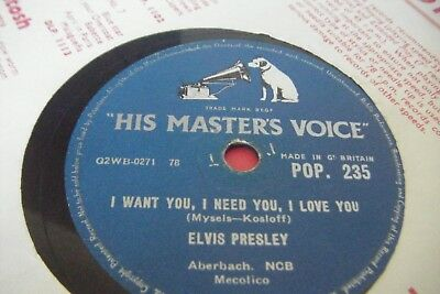 Elvis Presley * I Want You I Need You I Love You / My Baby Left Me */vg