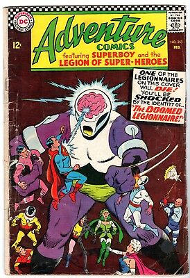 Adventure Comics #353 Featuring Superboy & The Legion of Super-Heroes, G-VG Cond