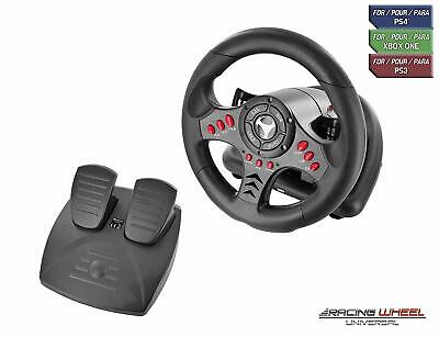 Universal Racing Wheel with Pedals