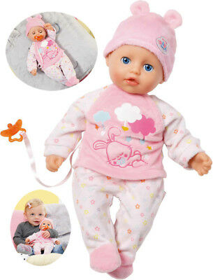 Zapf Creation My Little Baby Born Puppe Super Soft Girl 32 cm (Rosa-Weiß)