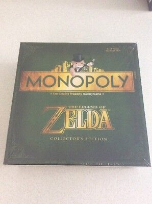 The Legend Of Zelda Monopoly Collectors Edition Board Game New Sealed