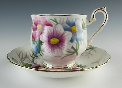 Royal Albert China FLOWER OF THE MONTH (OLDER HAMPTON) Cosmos Cup and Saucer