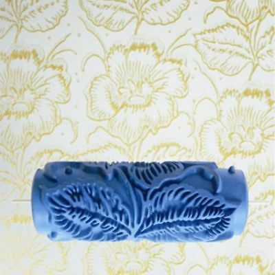 Rubber Decorative Pain Roller 3D Flower Design Pattern Wall Painting Tool 5inch