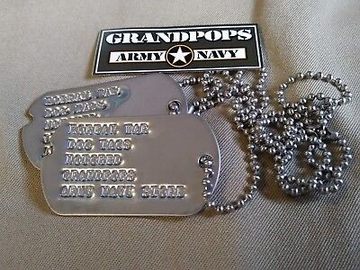 Korean War U.s. Military Dog Tags Customized
