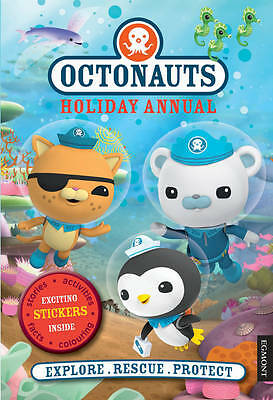 NEW   OCTONAUTS  Hardback HOLIDAY ANNUAL STICKERS and packed with fun puzzles