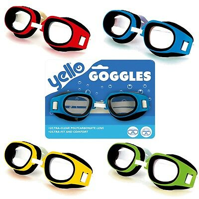 Swimming Goggles Boys Girls Kids Pool Holiday Blue Red Green Yellow Beach Swim