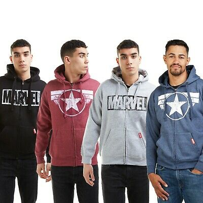 Officially Licensed Captain Marvel Patch Epic Hoodie S-XXL Sizes