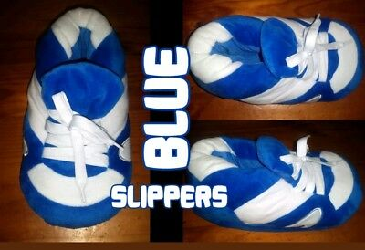 Super Soft Plush Slippers Great for all seasons Blue Size L