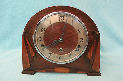 Vintage German Art Deco Westminster Chime Mantel Clock For Spares Repair