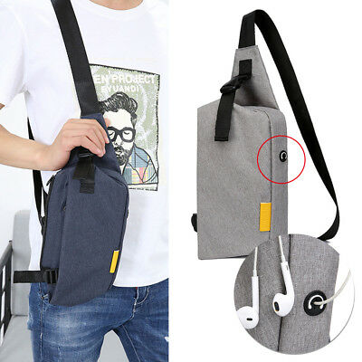 acf9e8fb4055 Anti-Theft Men Chest Messenger Sling Bag Casual Shoulder Small Crossbody  Bags