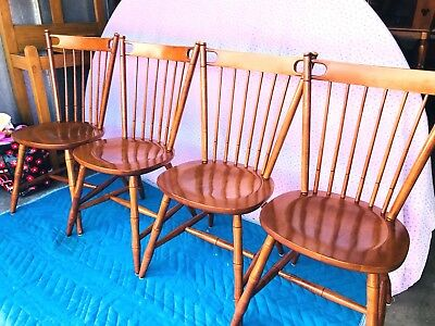 Beautiful Vintage Tell City Country Style Solid Maple Dining Room Chairs L@@K