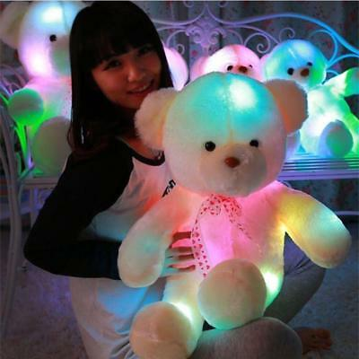 50cm Creative Light Up LED Teddy Bear Stuffed Gift Animals Plush Toy Colorful