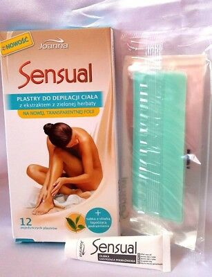 Joanna Sensual Waxing  Strips removal hairs full body + finish oil Aloe Vera