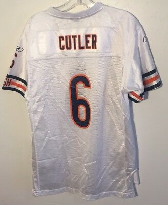 1f122dbb6a3 Jay Cutler #6 Chicago Bears NFL Football Jersey Reebok White Youth XL NICE
