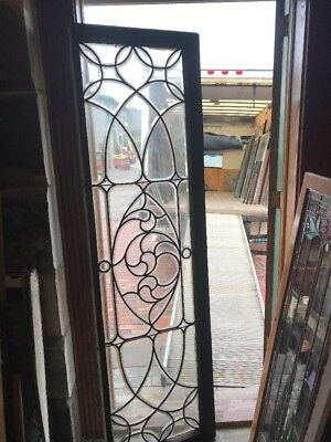 Sg 2520 Antique All Beveled Glass Transom Window 21.5 X 76.5