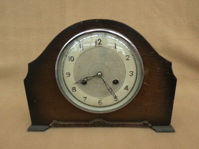 Vintage Bentima Perivale 8 Day Striking Mantel Clock For Spares Repair
