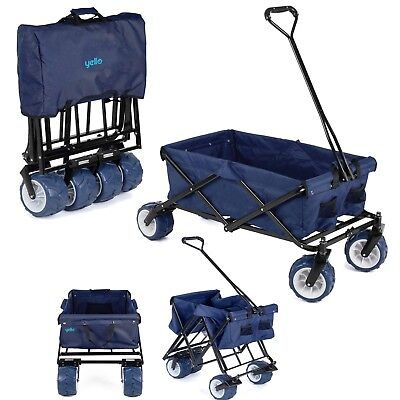Foldable Trolley Hand Wagon Cart Offroad Rugged Beach Camping Garden Festival