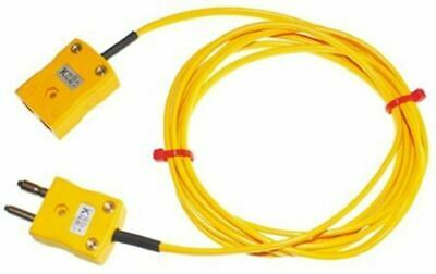 RS Pro Plug & Socket 2m Male - Female Cable for use with K Type Thermocouple