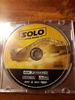 New 2018 Disney Solo A Star Wars Story 4K UHD Blu Ray Disc Only