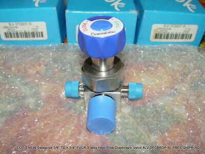 NEW Swagelok 3-Way High Flow Diaphragm Valve 6LV-DFCBBDP-BL FREE SHIPPING