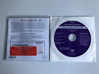Genuine Windows 10 Professional Sealed Dell 32/64 Bit Key and DVD