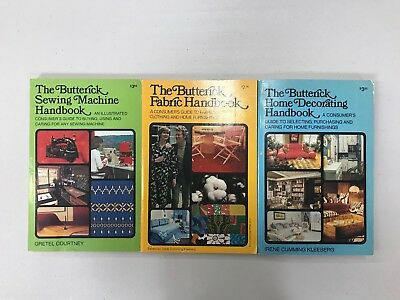 3 Vintage Butterick Handbooks--Fabric, Home Decorating and Sewing Machine
