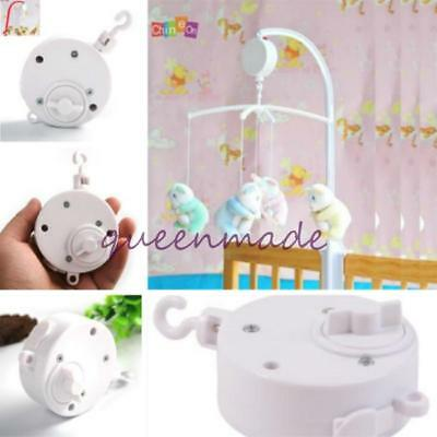 Baby Crib Mobile Bed Bell Toy Wind-up Music Box Early Leaning Toys O3