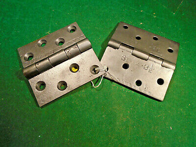 "Rare Signed Pair 3 1/2"" Hinges: J.l. Haven Cincinnati, Ohio Circa 1870 (3211)"