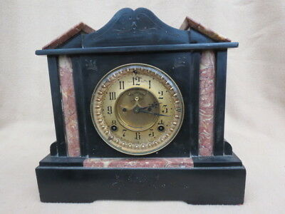 Antique Ansonia Visible Escapement Marble Clock For Tlc