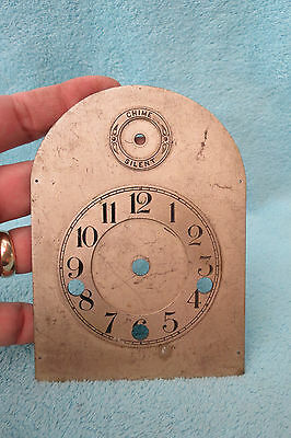 Small Antique Westminster Bracket Clock Dial
