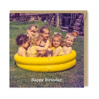 Honovi Celebrations & Occasions Boxed Cat 1970s Vintage Funny Quirky Retro Birthday Card Feline Lover