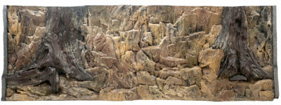 3D Rock Root Background With Vents  For Aquarium Fish Tank 146x45cm - 2 sections