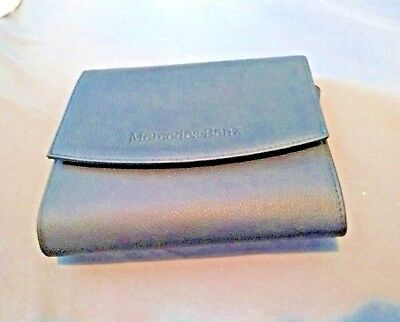 MERCEDES BENZ OWNERS Manual Pouch Deluxe Booklet Snap Holder FAUX LEATHER