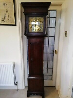 Single Finger Grandfather Longcase Clock Joseph Donisthorpe Circa 1770