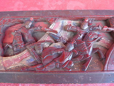 Antique Wood Carving __ China (or Japan )__ Warrior__36cm