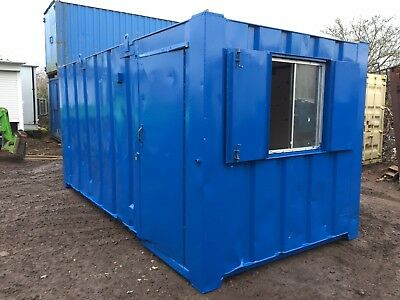 Site Office Cabin 16ft x 8ft Canteen Portable Building Anti Vandal Steel