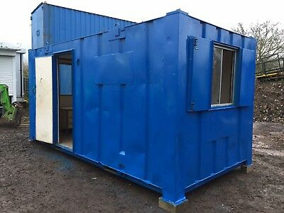 Site Office Cabin 16ft x 8ft Portable Steel Building Canteen