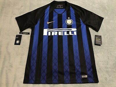 0aac573650a Nike Inter Milan 2018-19 Home Soccer Jersey Men s sz Large Blue 918999-011
