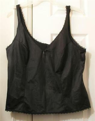 Fruit Of The Loom Black Lace Camisole, Size 42