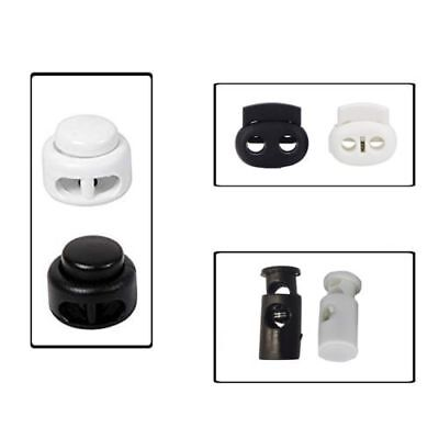 Drawstring Plastic Toggle Cord Stopper Locks With Single & Bean Twin Hole Button